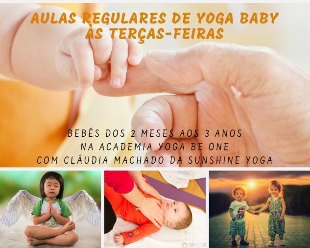 Cartaz Evento Aulas Yoga Baby - Be One