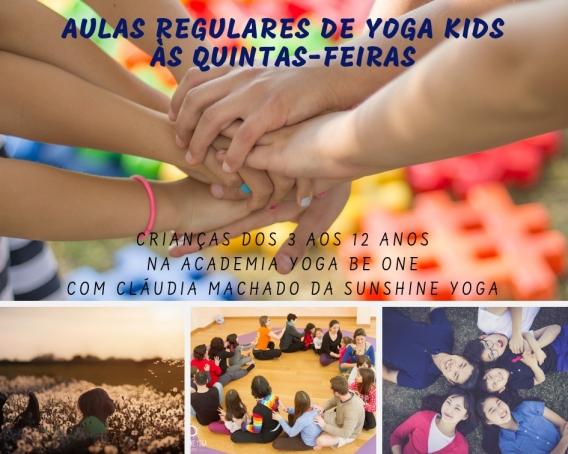 Cartaz Evento Aulas Yoga Kids - Be One